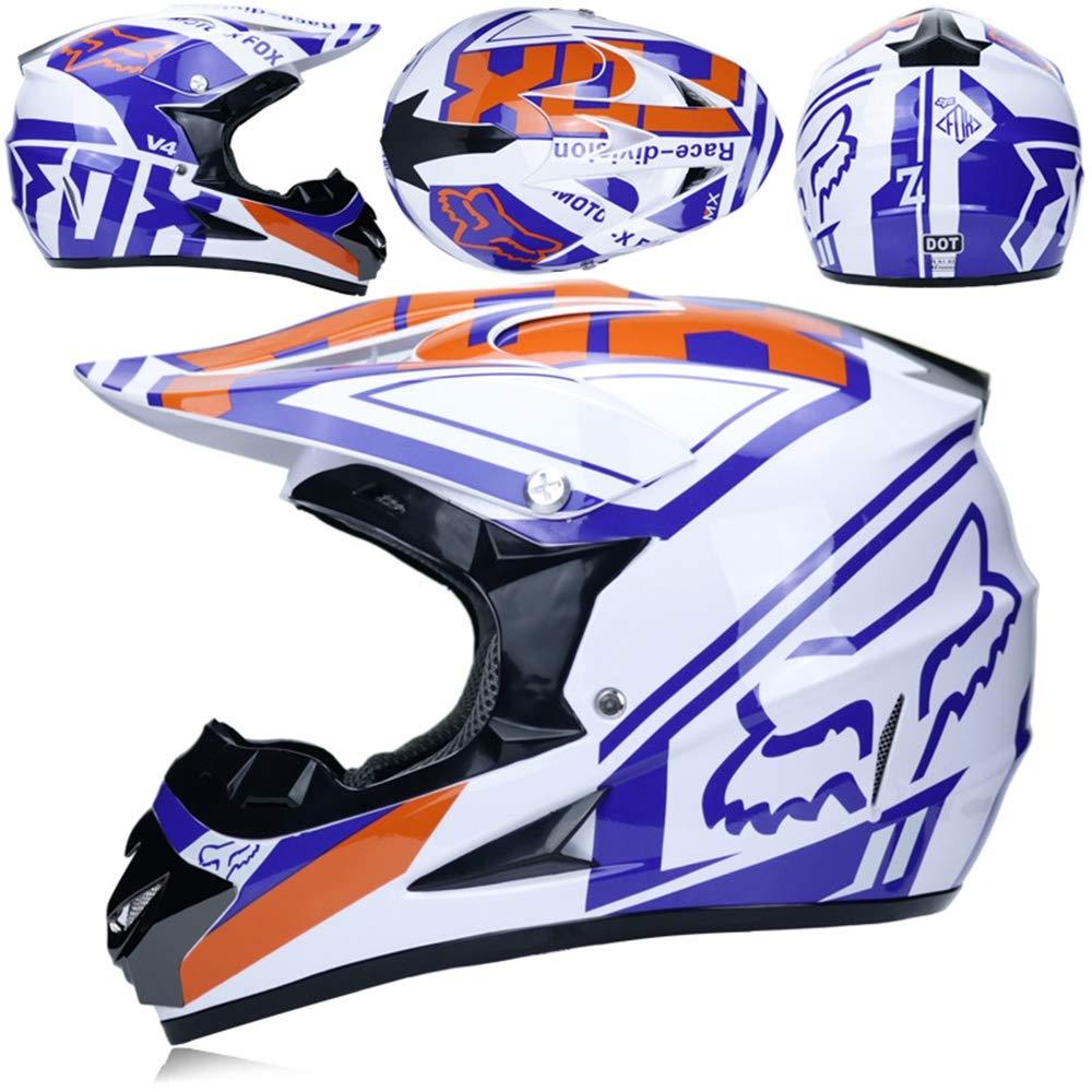 MLONG Casco de Motocross para Adulto & Guantes y Gafas de ...