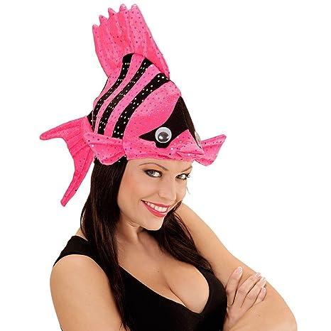 Divertente cappello a pesce cappello pesciolino tropicale rosa copricapo a  forma di animale cappello Nemo per da30e26db36d