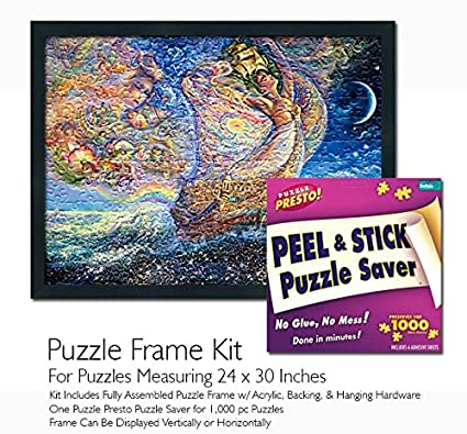 Amazon.com: Jigsaw Puzzle Frame Kit - Made To Display Puzzles ...
