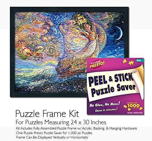 Jigsaw Puzzle Frame Kit - Made to Display Puzzles Measuring 24x30 ()