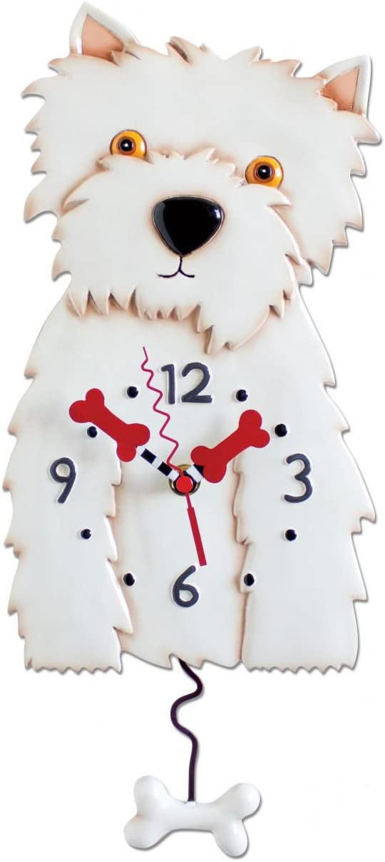 Allen Designs Westin Dog Westie Clock