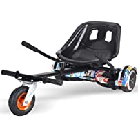 Lvbeis Hoverkart Asiento para Hoverboard Silla Kart Patinete EléCtrico Compatible Go Kart All Size Self Balancing Scooter