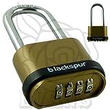 Blackspur BB-PD202 4-Digit Long Shackle Combination Padlock