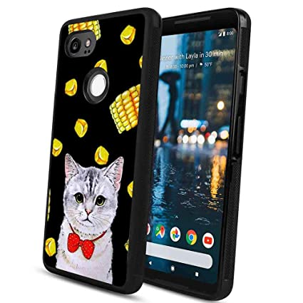 Amazon com: Cat and Corn Cell Phone Case for Google Pixel 2