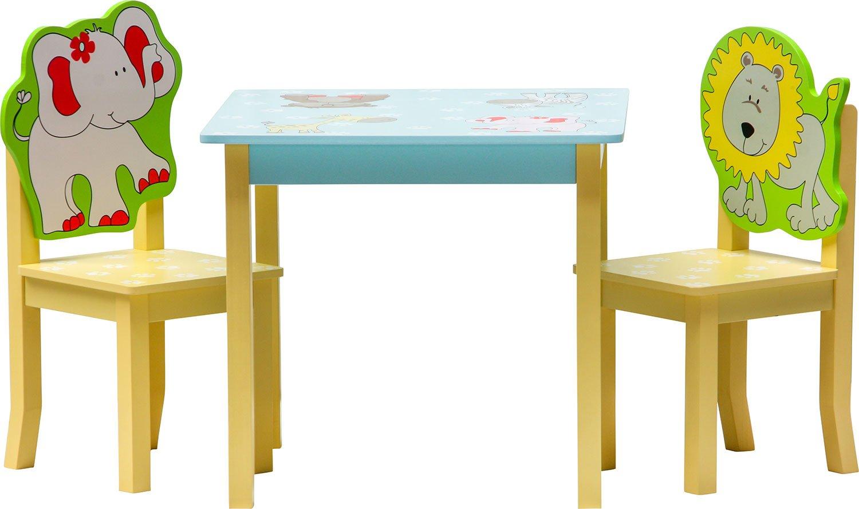 IB-Style Stuhl Truhenbank Kinderm/öbel Tisch Kindertisch Kinderstuhl 2x St/ühle Kindersitzgruppe SAFARI 3 Kombinationen Set: 1x Tisch