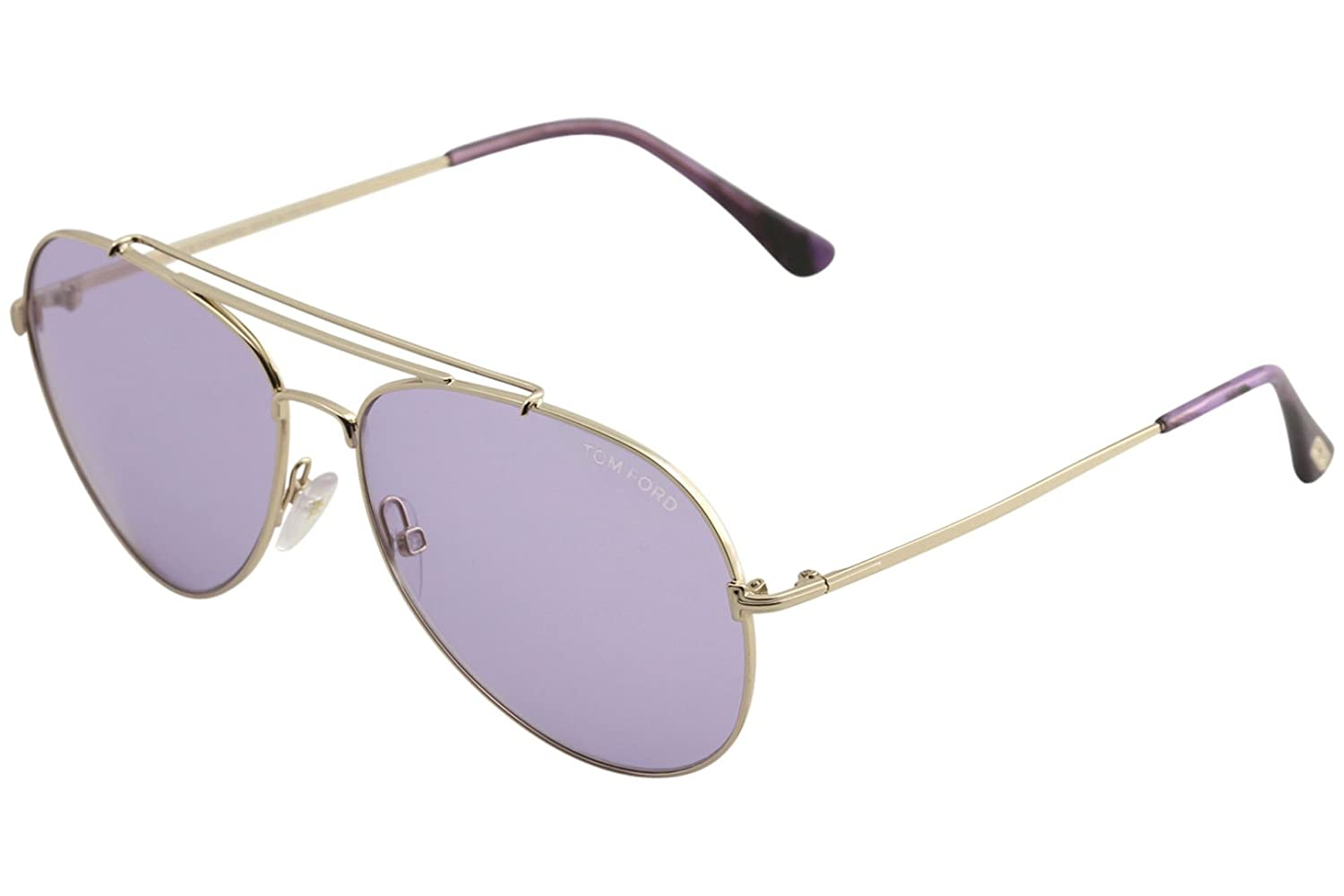 violet Sunglasses Tom Ford INDIANA TF 497 FT 28Y shiny rose gold