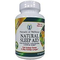 Pinnacle of Wellness All Natural Sleep Aid - Melatonin, Ashwagandha, 5-HTP, GABA...