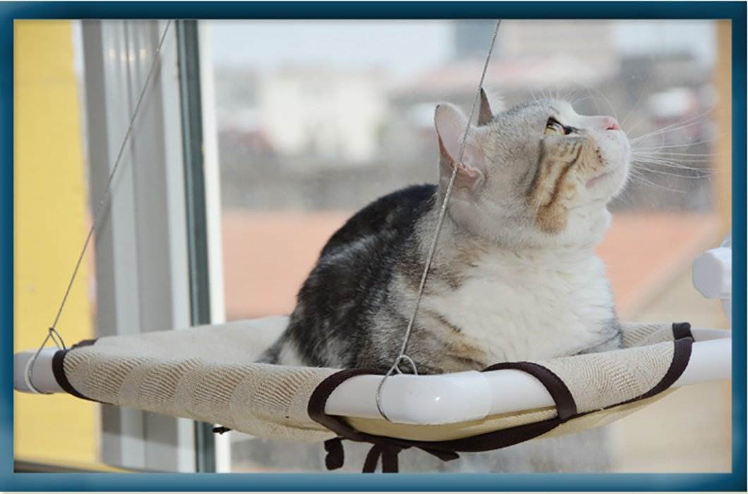 Lifeunion Window-mounte Soft Perch Washable Plush Hanging Cat Hammock Kitty Bed Cage Hold up to 44 Pounds