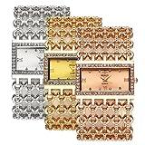Top Plaza Women Luxury Fashion Bracelet Analog Quartz Watch Silver Tone Big Face Wide Band Rhinestone Decorated Roman Numerals Waterproof Cuff Watch,Rectangle Case 38×25 MM