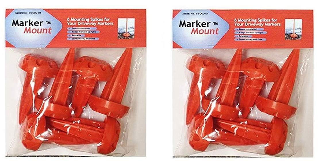 Rebound Driveway Marker 14-001-06 Marker Mount Driveway Stake, 12-Pack