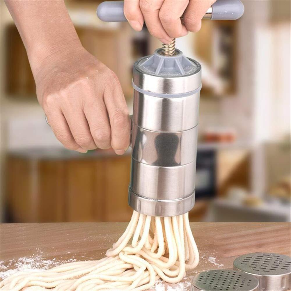 Yzibei Manual de hogar de Acero Inoxidable máquina de Pasta Familia pequeña máquina de Fideos Manual Presión de Mano Fideos Que presiona la máquina de ...