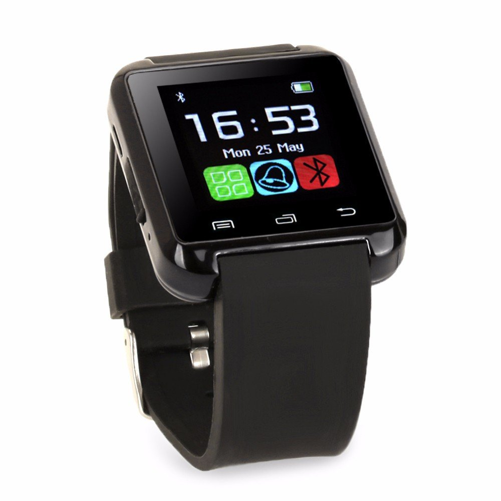 Bluetooth Smart Watch, Aosmart U8 Smartwatch for Android Smartphones - Black by Aosmart
