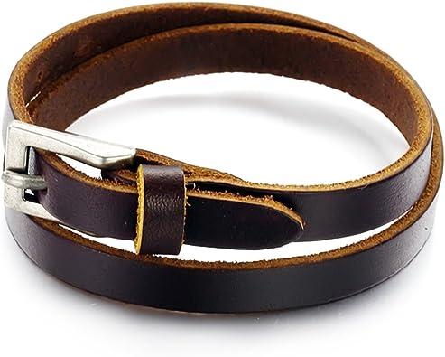 bracelet cuir plusieurs tours