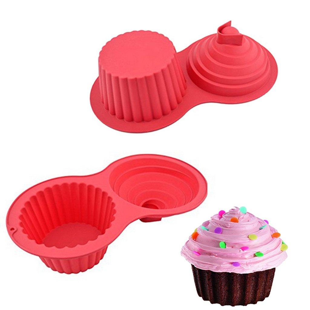 Vigorlife Silicone Non-Stick Giant Cupcake Pan Jumbo Cupcake Muffin Baking Tin Baking Mould Bekeware