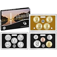 2015 S Silver Proof Set, Ultra Deep Cameo, 14 Coins, U.S Mint Packaging, COA proof