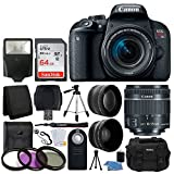 Cheap Canon EOS Rebel T7i 24.2MP Digital SLR Camera + EF-S 18-55mm f/4-5.6 is STM Lens + 64GB Memory Card + Wide Angle & Telephoto Lens + UV Filter Kit + DC59 Gadget Bag + Quality Tripod + Valued Bundle