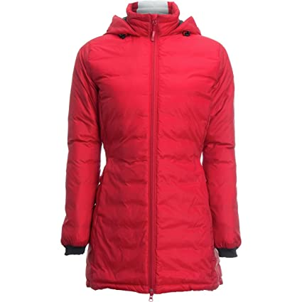 Amazon.com  Canada Goose Camp Down Hooded Jacket - Women s Red ... a467844436