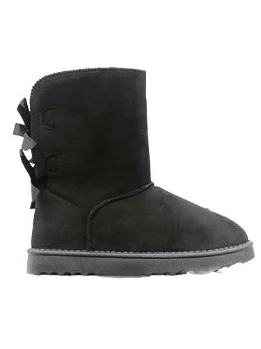 Damen Warm Gefütterte Stiefel Stiefeletten Winter Boots (38, Schwarz ... 890bbfc67b