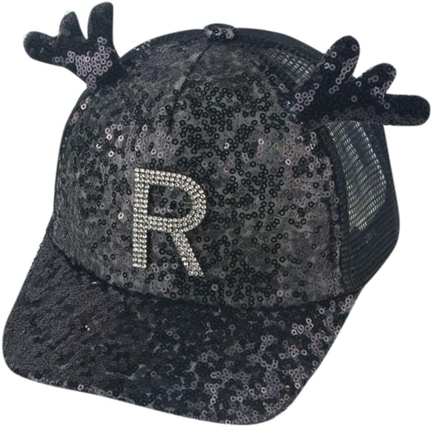 Unisex 100/% Polyester Floral Antlers in Deer Horns Decorated Baseball Cap Stretch Trucker Mesh Cap for Unisex