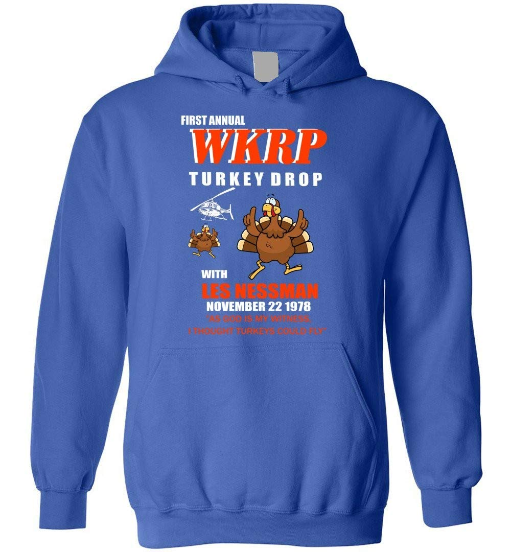 First Annual Wkrp Turkey Drop Les Nessman Happy Thanksgiving 7876 Shirts
