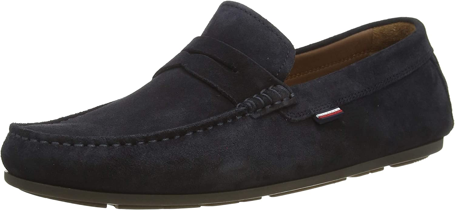Tommy Hilfiger Classic Suede Penny Loafer, Mocasines para Hombre