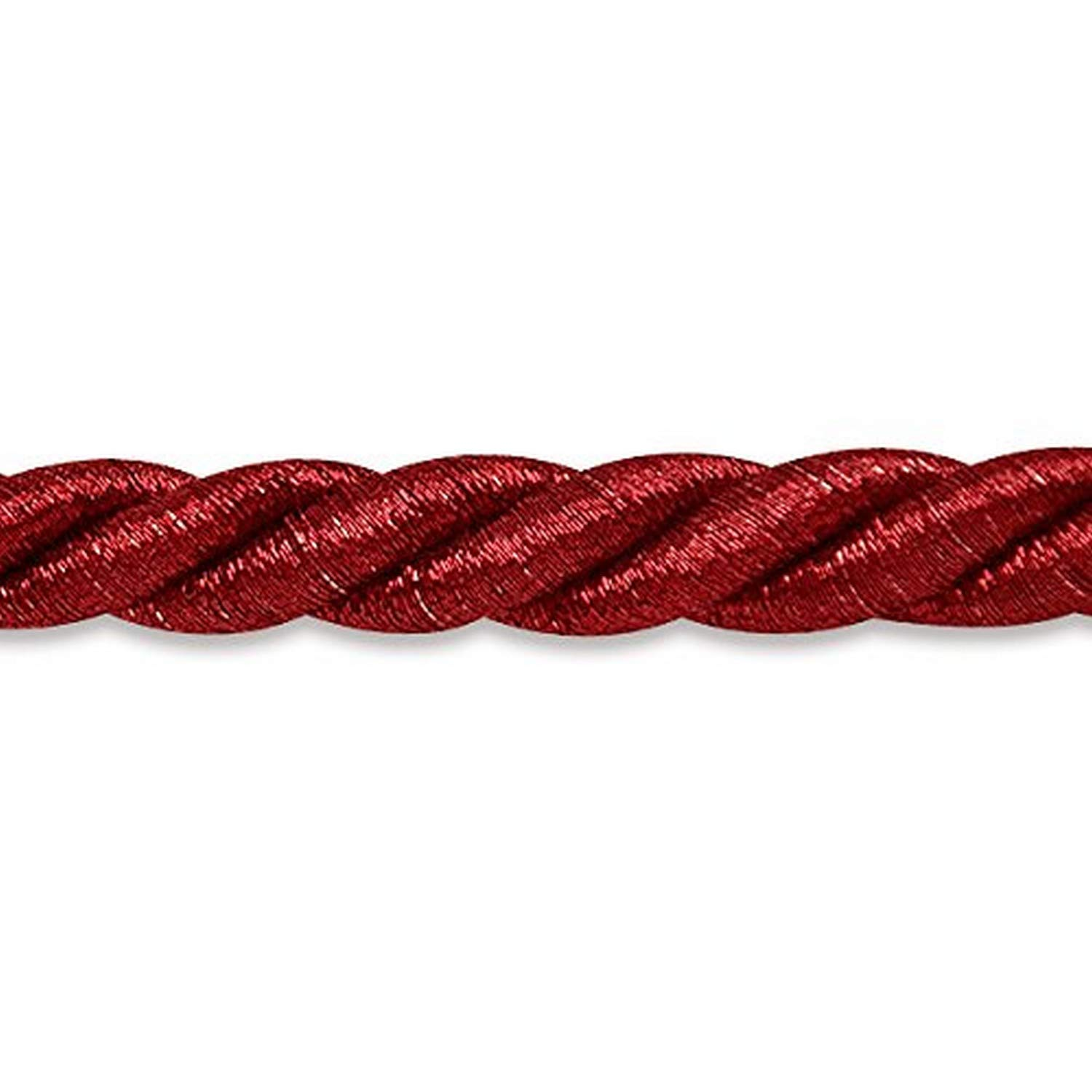 20-Yard Metallic Chocolate Expo International 3//8-Inch Holly Twisted Cord Trim Embellishment