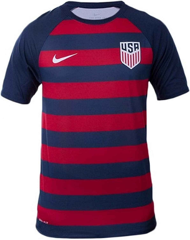 NIKE Mens USA Vapor Match Gold Cup Soccer Jersey Red/Navy/White (Medium)