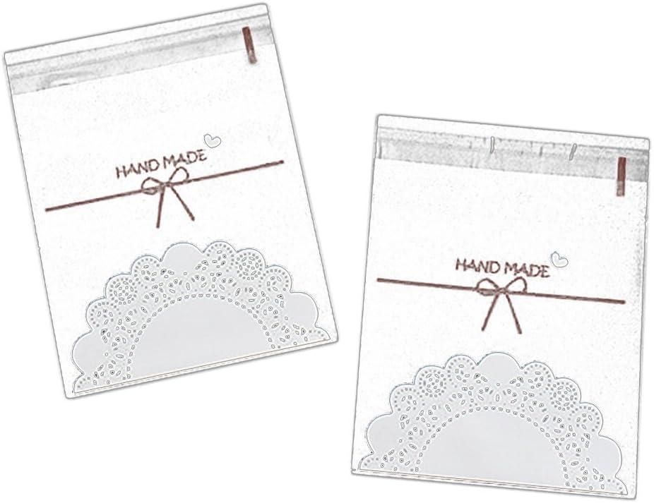 100x da. WA autoadhesivo transparente bolsas celofán Candy de galletas, plástico celofán bolsa fiesta regalo