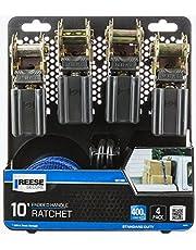 Kit C/ 4 Cintas De 3M P/ Fixacao De Carga C/ Catraca Manual (Carga Max 181 Kg) Aco Galv. Reese 21.8 X 25 X 6.8
