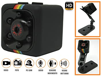 Mini DV Action Cam espía video camera Micro visión nocturna Sensor de movimiento Spy Infra Red 1080P, negro, 2,3x2,3x2,3: Amazon.es: Deportes y aire libre