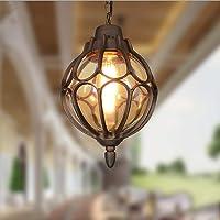 Vintage Pendant Lights Outdoor Waterproof Ceiling Lights Industrial Aluminum Glass Hanging Chandelier Lighting for Porch…