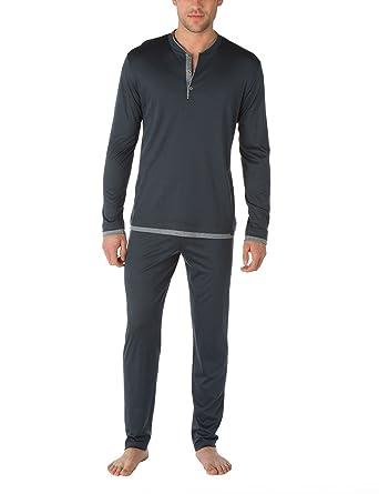 6855d7c353 Calida Herren Zweiteiliger Schlafanzug Pyjama Södermalm: Amazon.de:  Bekleidung