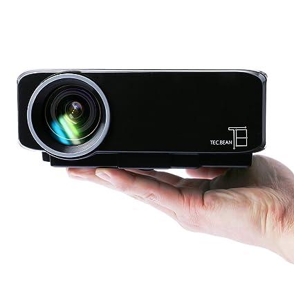 TEC.BEAN Mini Proyector LED Pórtatil con USB VGA HDMI AV para la ...
