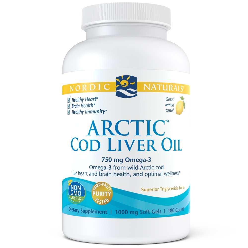 Nordic Naturals - Arctic CLO, Heart and Brain Health, and Optimal Wellness, 180 Soft Gels, 1000mg