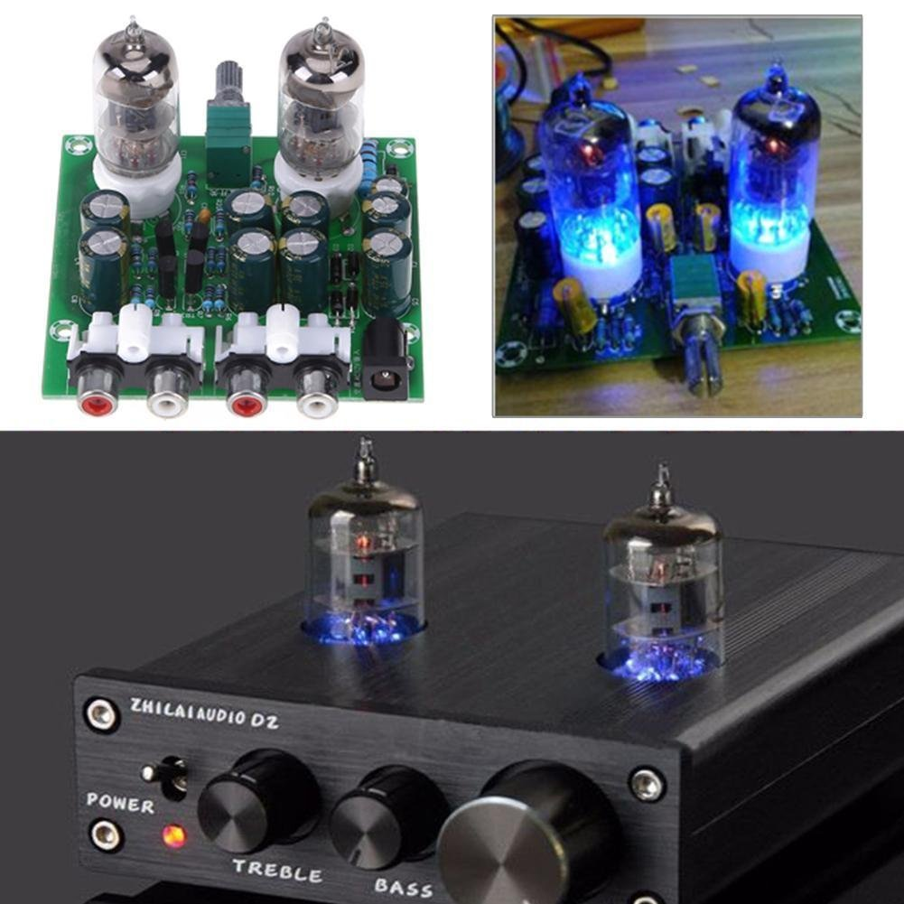FidgetFidget Preamplifier Amplifer Module 6J1 HiFi Electronic Tube Board Finished Preamp by FidgetFidget