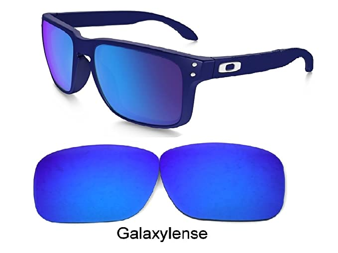 28c431fb1f Amazon.com  Galaxy Replacement lenses For Oakley Holbrook Polarized Blue 100%  UVAB  Clothing