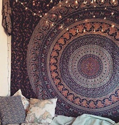 Hippie Tapestry Elephant Tapestry Mandala Tapestry Wall hanging hippy throw Indian Dorm Decor Psychedelic Tapestry Bohemian Bedspread Bed Cover Bedding Picnic Blanket Beach Sheet