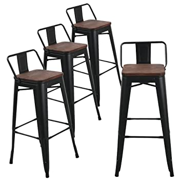 amazon com andeworld set of 4 tolix style counter height bar stools