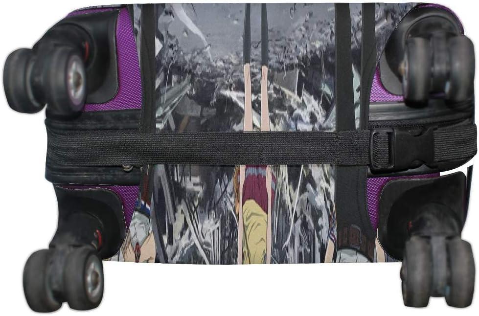 Maxm Zankyo No Terror Serial Japan Sinichiro Watanabe Kazuto Nakazawa Pattern Print Travel Luggage Protector Baggage Suitcase Cover Fits 18-21 Inch Luggage