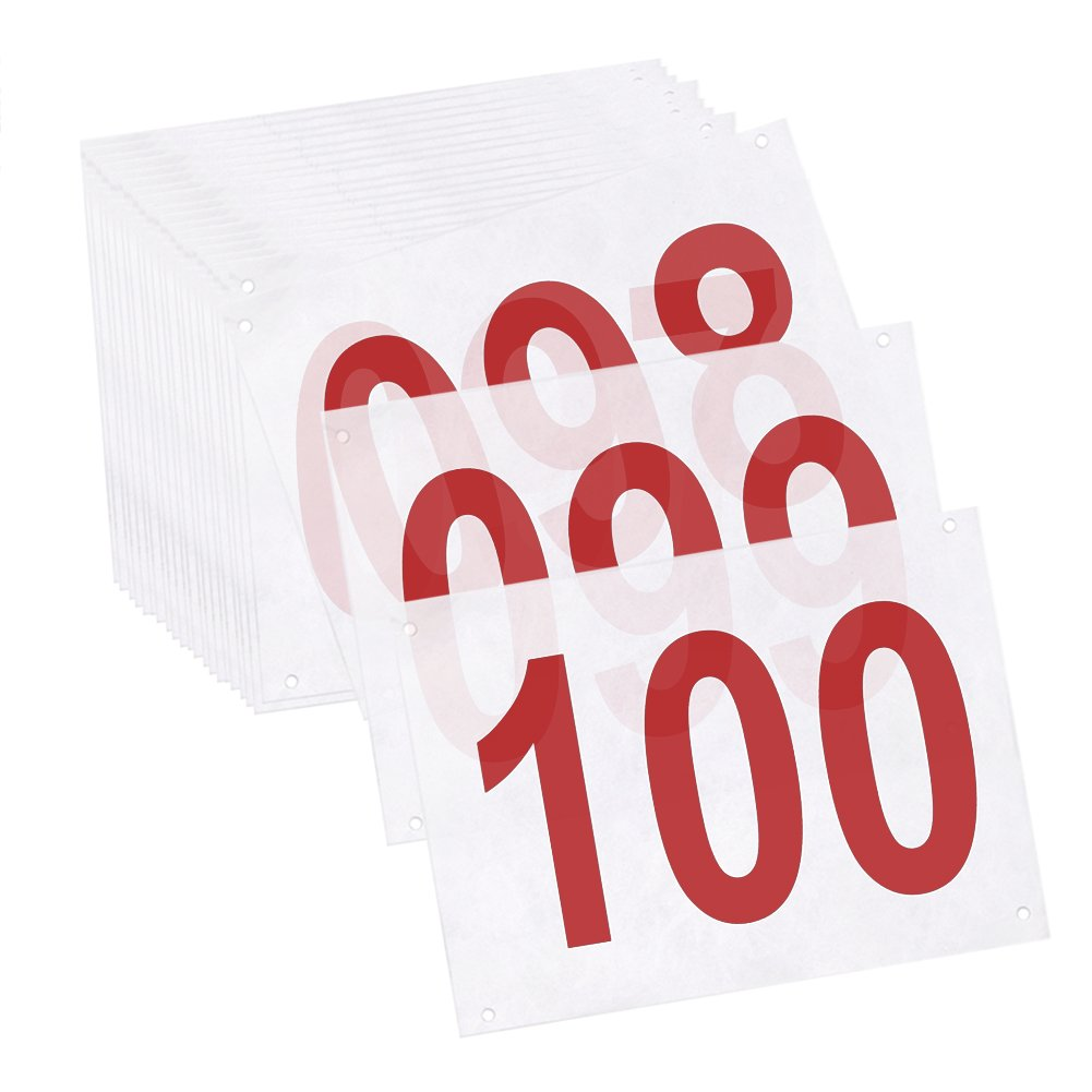 GOGO 100PCS Tyvek Race Bib Numbers, 8 1/4 in x 6 in Sequence Competitor Number
