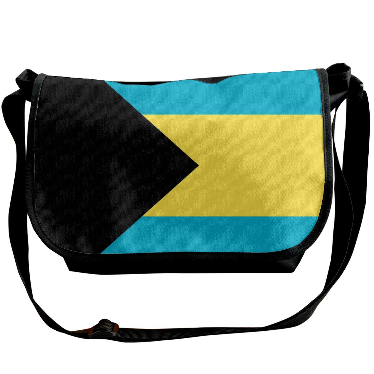 Adjustable Shoulder Strap Messenger Bag Bahamas Flag Unisex Backpack Shoulder Crossbody Bag