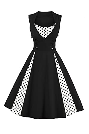 93f719d902 Image Unavailable. Image not available for. Colour  VERNASSA 50s Retro  Dresses