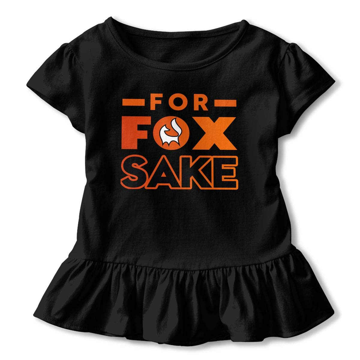 for Fox Sake Baby Girls Fashion Ruffle Top T-Shirt Flounces Dress Toddler Girls Blouse Top