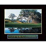 Framed Art Print, Achievement: Golf': Outer Size 29 x 23