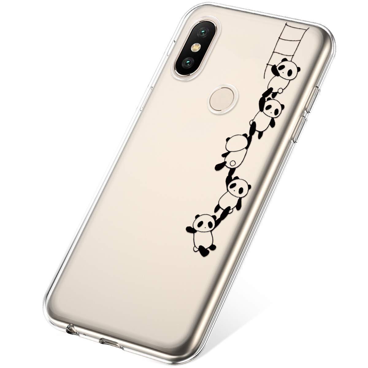 Felfy Etui Compatible avec Xiaomi Mi A2,Coque Xiaomi Mi A2 Transparente Silicone Housse de Protection Ultra Mince en Caoutchouc Souple Coquille Anti Choc T/él/éphone Bumper Case,Dinosaure