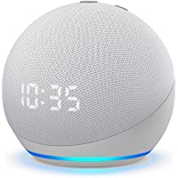 All-new Echo Dot (4th Gen) | Smart speaker with clock and Alexa | Glacier White