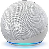 All-new Echo Dot (4th Gen) | Smart speaker with clock and Alexa | Glacier White