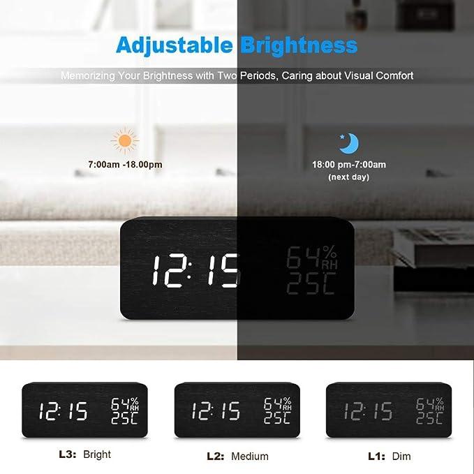 Aoforz-ASHENGTAIQUBAIFANG Jinsun Moderno LED Despertador ...