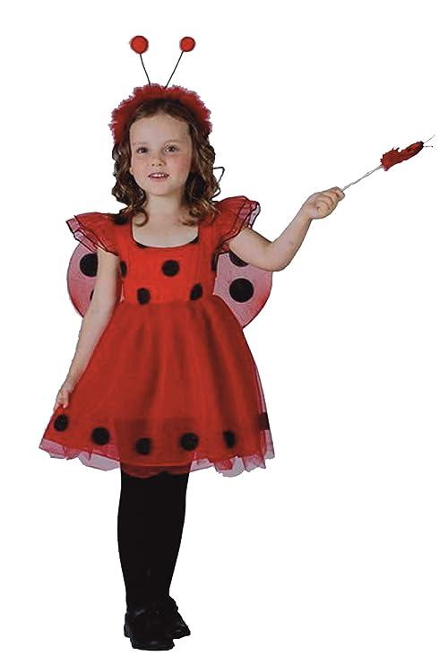 EL CARNAVAL Disfraz niña Mariquita Talla 2-4 años: Amazon.es: Hogar