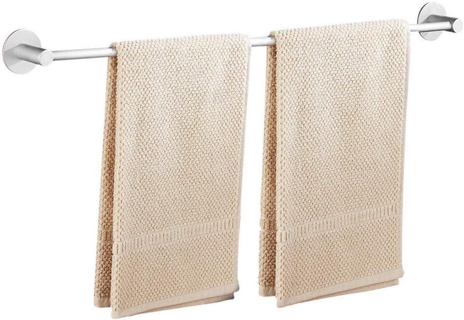 Espacio baño de aluminio percha individual toallero colgador de toallas montado en la pared marco de la baranda del baño almacenamiento de toallas de perforación libre 50 cm: Amazon.es: Bricolaje y herramientas